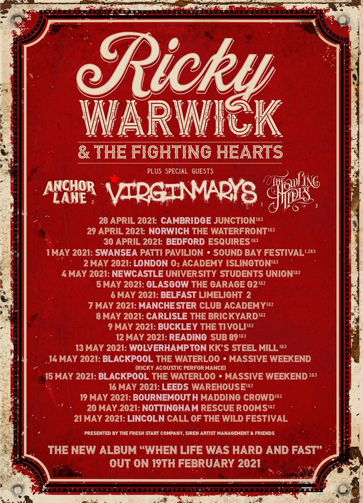 Ricky Warwick & The Fighting Hearts