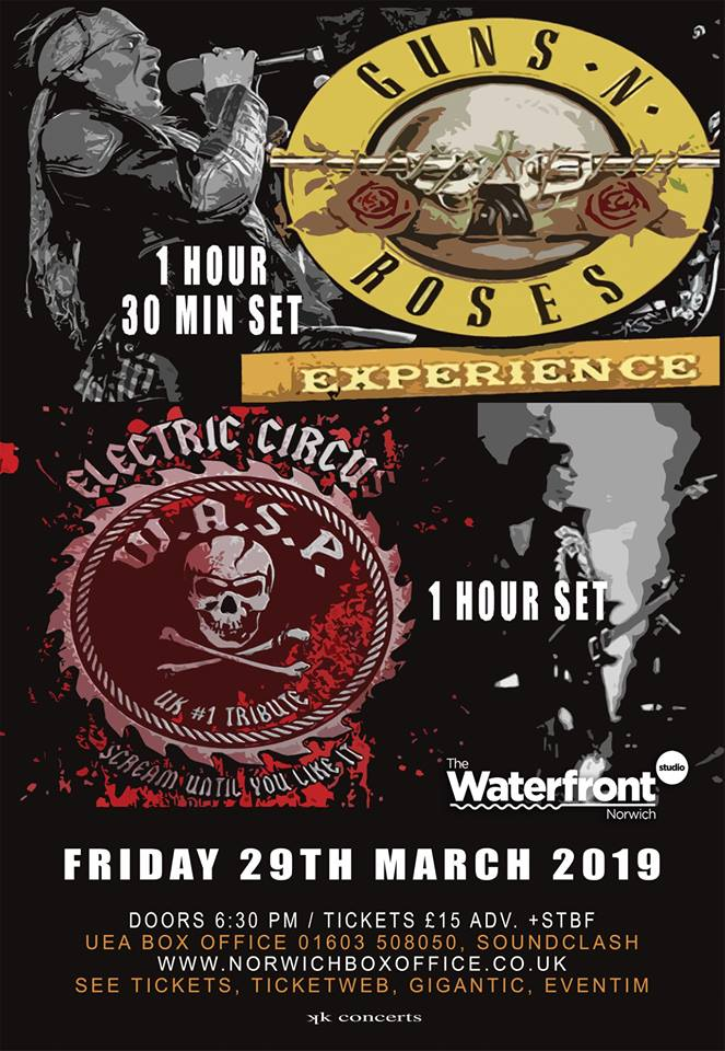The Guns N Roses Experience + W.A.S.P. Tribute Electric Circus