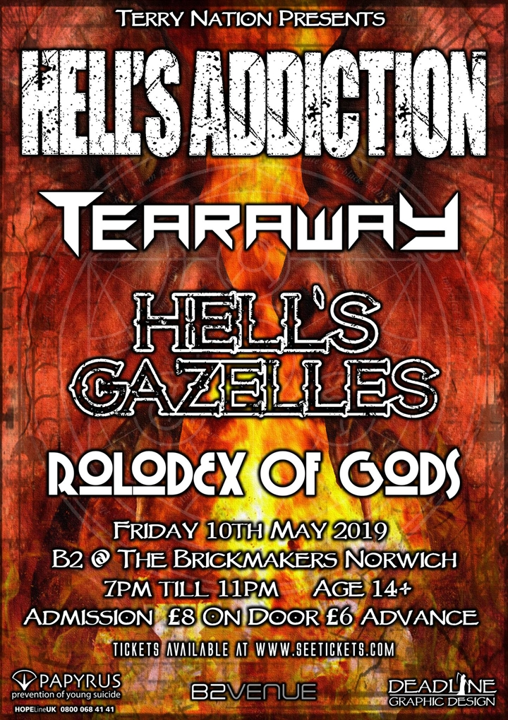 TERRY NATION PRESENTS…  HELL'S ADDICTION