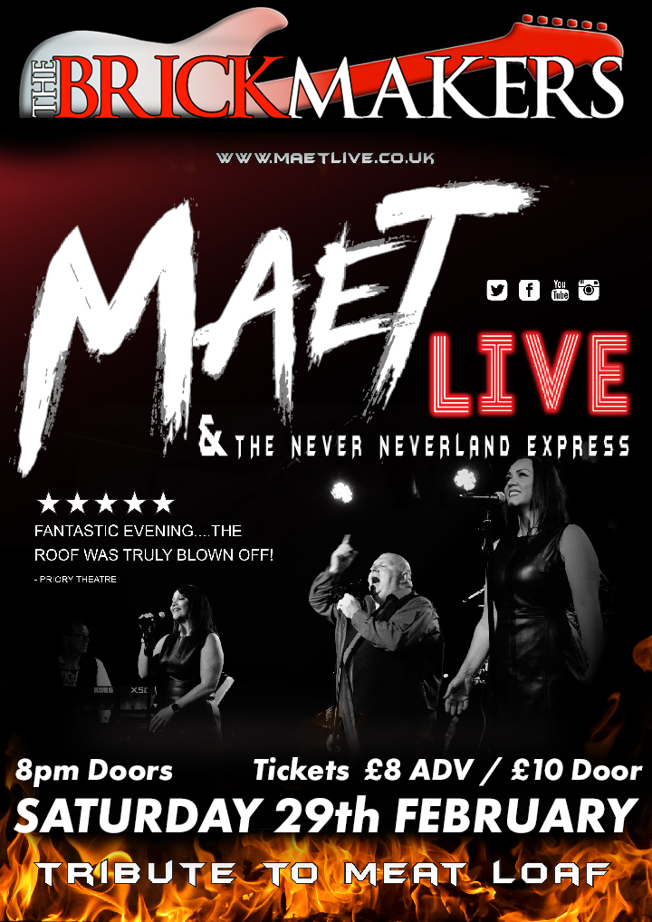 Maet Live and The Never Neverland Express - Tribute to Meat Loaf