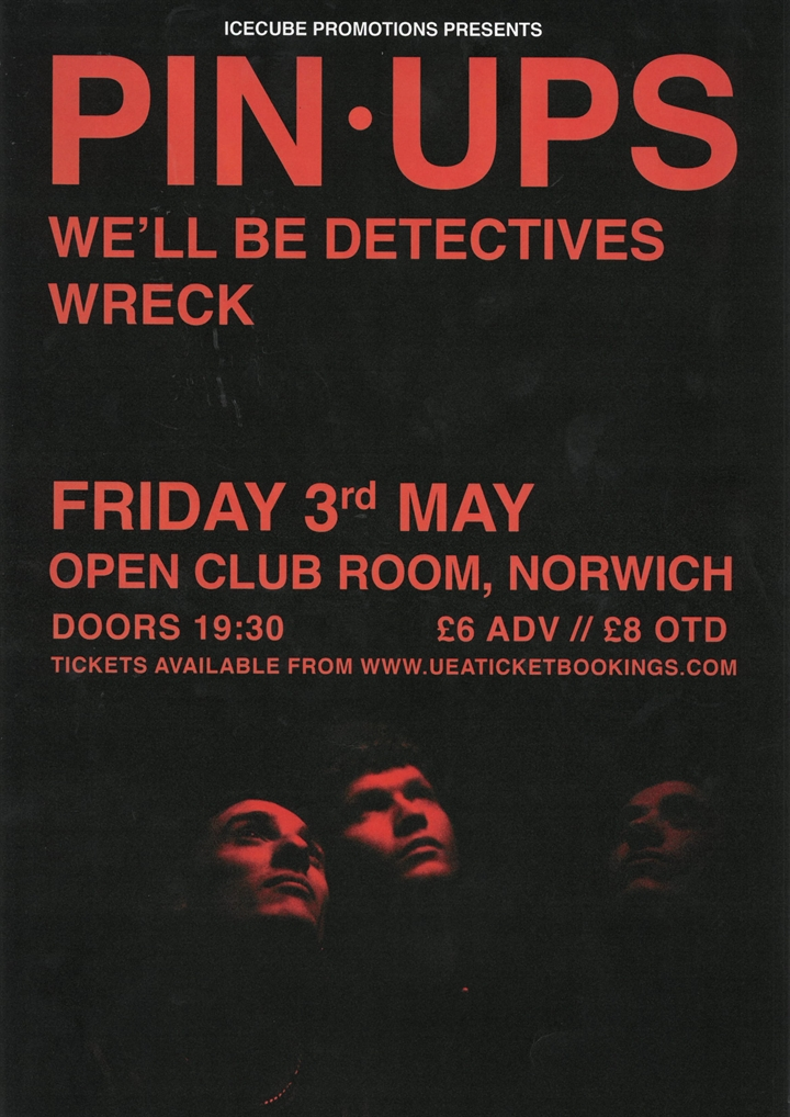 IceCube presents Pin Ups + We'll Be Detectives + WRECK